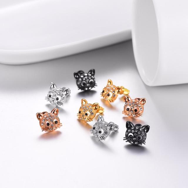 Náušnice MILÁ MAČKA 4farby Stud Earrings with Cute Cats 4colors