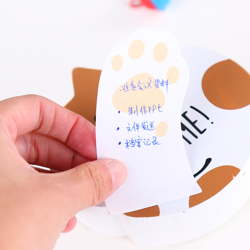 6 ədəd / Cute Cute pişik yapışqan - Qeyd kitabçaları - Fotoqrafiya 3