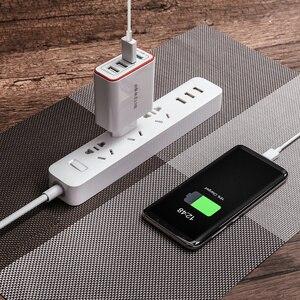 Image 5 - Зарядное устройство BlitzWolf QC3.0, 4 порта, быстрая зарядка, европейская вилка, светодиодная подсветка, 30 Вт, 2,4 А, USB, для путешествий, для iPhone, Android, N Swich