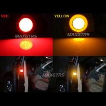 Car Red Yellow LED Strobe Door Open Warning Signal, Anti LED Flash Light Decorative Indicator