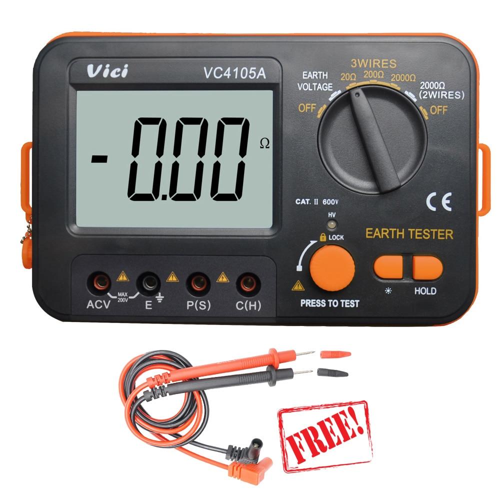 Здесь продается  VICI VC4105A megger insulation tester megohmmeter ohm meter digital earth tester Voltmeter Resistance Voltage Meter Multimeter   Инструменты