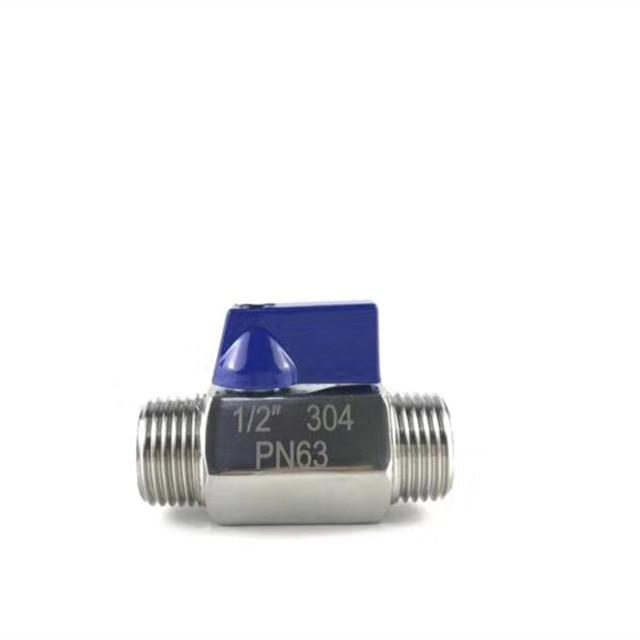 Stainless Steel 304 Inline Mini Ball Valve - MXM NPT or BSP