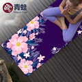 natural rubber Suede YOGA MAT Heathyoga PRO Yoga Mat with Body Alignment Lines Durable Rubber BaseRevolutionary non slip