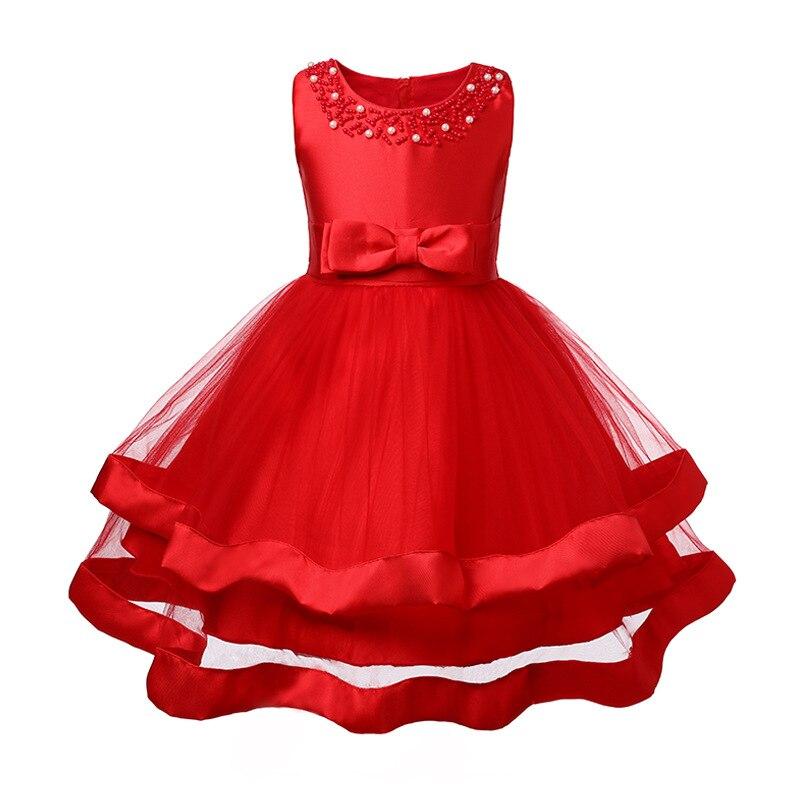 Easter dress Girls tutu Kids Clothing Elegant hand beading Girls Dresses for Children Princess Party Costumes Communion day dress