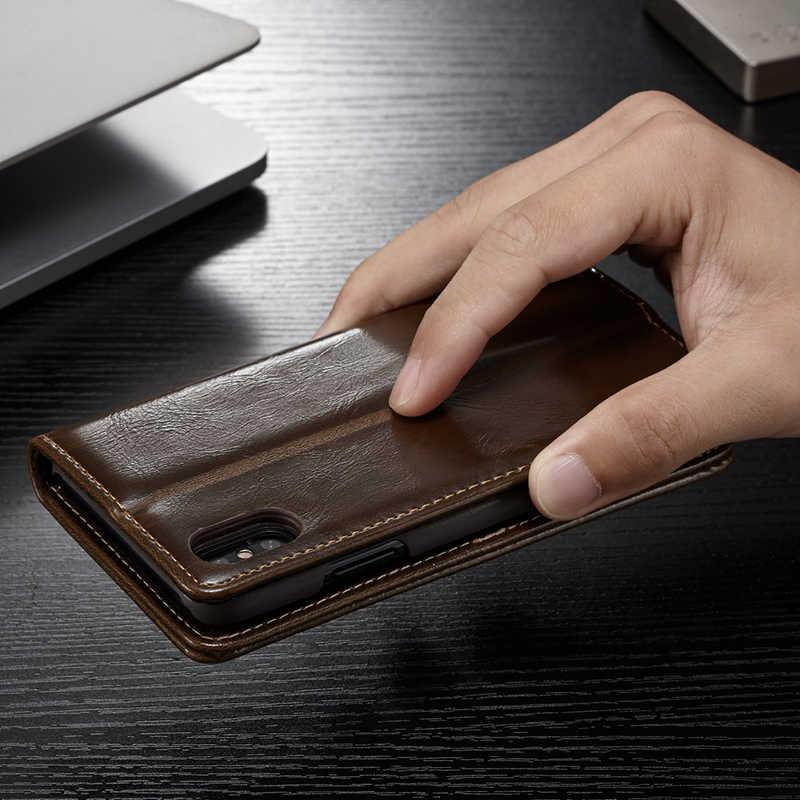 Funda de cuero con tapa para iPhone 5 y 5s SE 6 7 8 Plus funda magnética con cartera para tarjetas para iPhone 11 Pro Max X XR XS Max