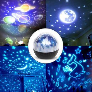 Image 2 - Star night lights for Kids Universe Cosmos star ry Sky Light proiettore a LED lampada rotante Nightlight Moon Sea World decorativo