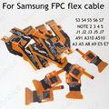 Fijar las piezas flex ribbon cable fpc lcd y pantalla táctil para samsung galaxy s3 S4 S5 S6 s7 borde más nota 2 3 4 5 A3 A5 A8 A9