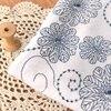White Soup Blue Print Bamboo Cotton Silk Summer Shirt Dresses Dress Curtain Gauze Fabrics
