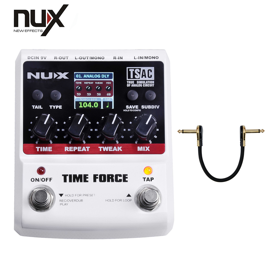NUX Effect Pedal/Stomp Boxes/Force series/TIME FORCE Multi Digital Delay best guitar pedal/free shipping nux 1 8 lcd time force delay guitar effect pedal white black