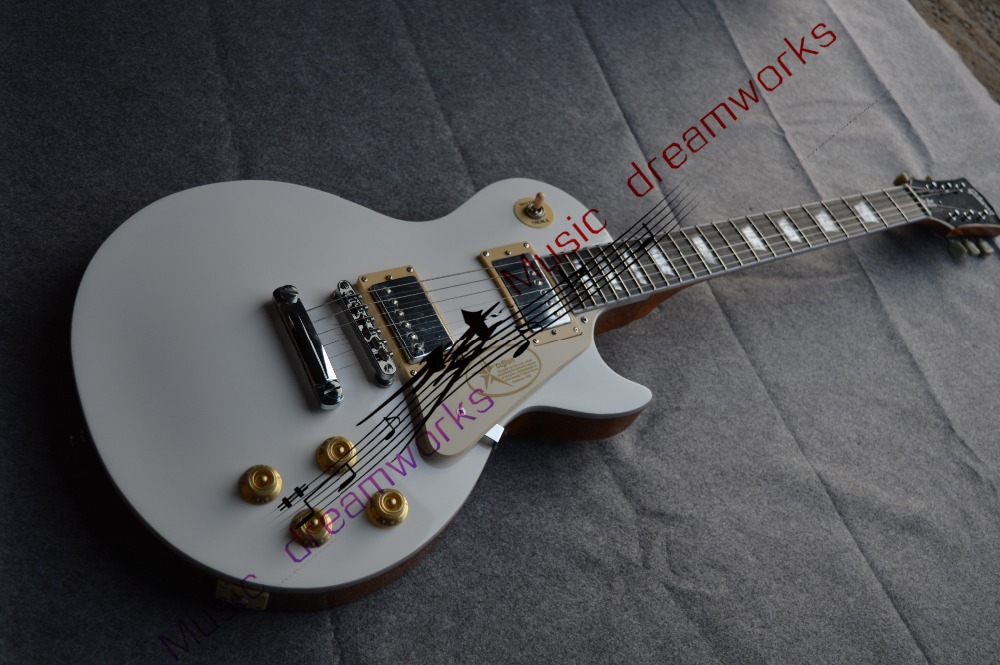 China's guitar firehawk  wholesale custom shop  electric guitar  LP  white A piece wood  the neck new brand phantom bike bicycle cycling jerseys short set sports t shirts gel padded tights for men