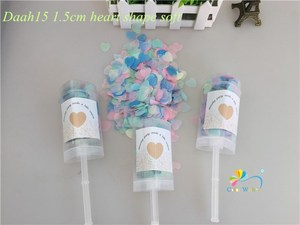 Image 4 - 10pcs/lot Heart Push Pop Confetti Poppers Wedding Baby Bride Shower Birthday Party Decoration Kids Toys Supplies