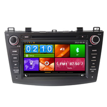 Free map Auto Video Wince Car Entertainment Multimedia System DVD Player Radio For Mazda New 3 With GPS Free shipping