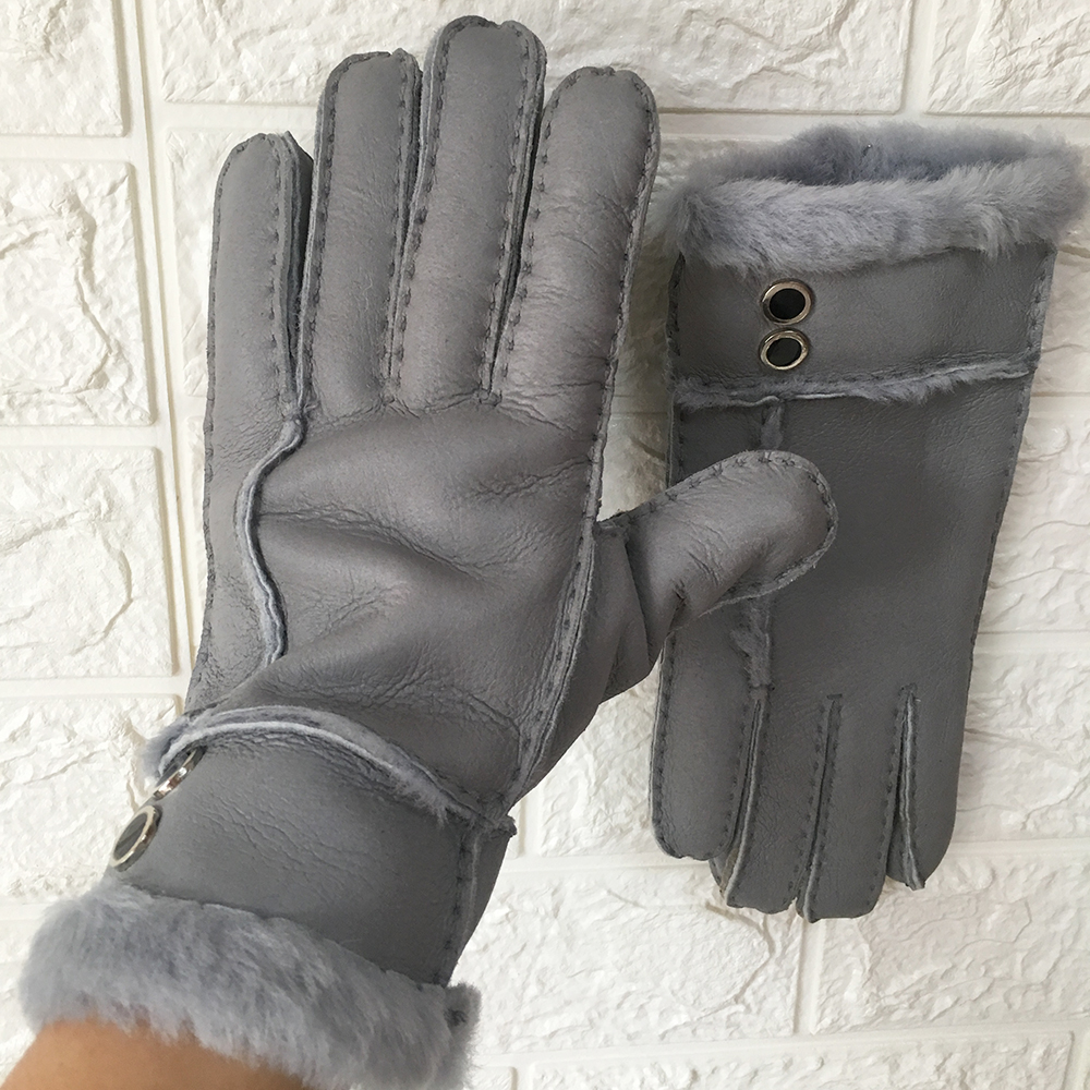 2019 High Quality Woman Russian Winter Gloves Real Sheepskin Fur Mitten Gloves Warm Winter Woman Outdoor Gloves Best Gifts in Women 39 s Gloves from Apparel Accessories