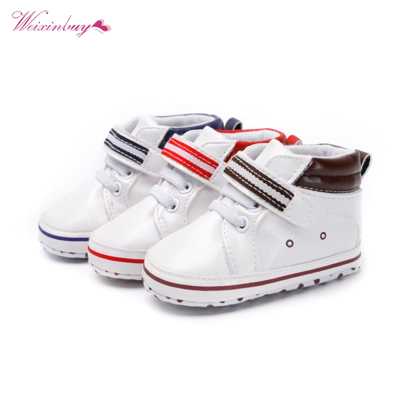 Newborn baby shoes infant anti-slip PU Leather first walker