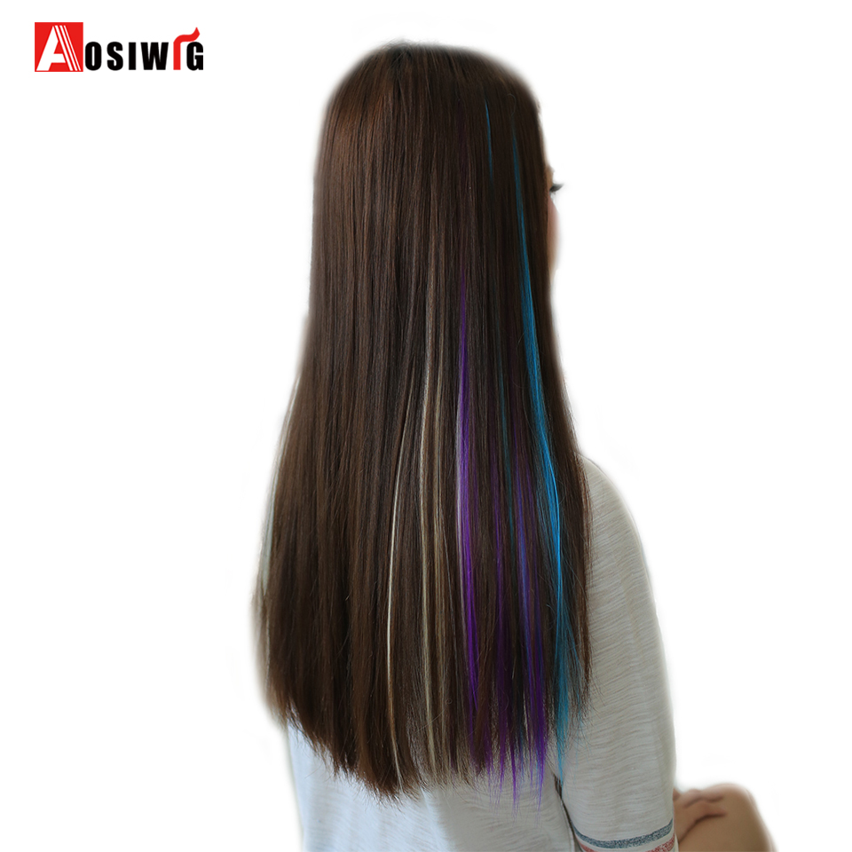 Online Shop Aosiwig 1 Piece 1 Clip In One Piece 20 Colors Hair