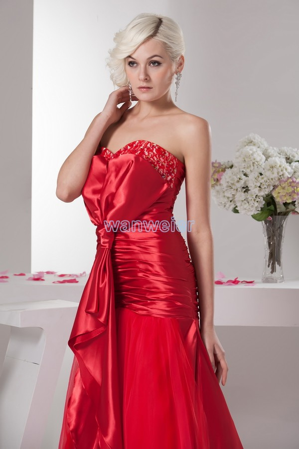 free shipping vestidos formales 2013 new hot seller high quality designer maid dresses sweetheart beading red Bridesmaid Dresses