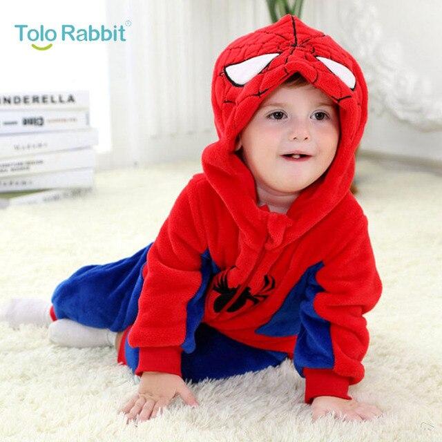 Frühling Baby Spider Man Strampler Warme Langarm Baby Kleidung ...