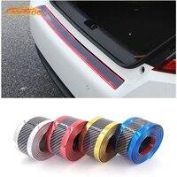 Carcardo 3D Protetor De Fibra De Carbono Tira Soleira Da Porta de Carro Bumper Faixa de Protetor Chrome Adesivo de Borracha Acessórios do Exterior|Adesivos para carro| |  -