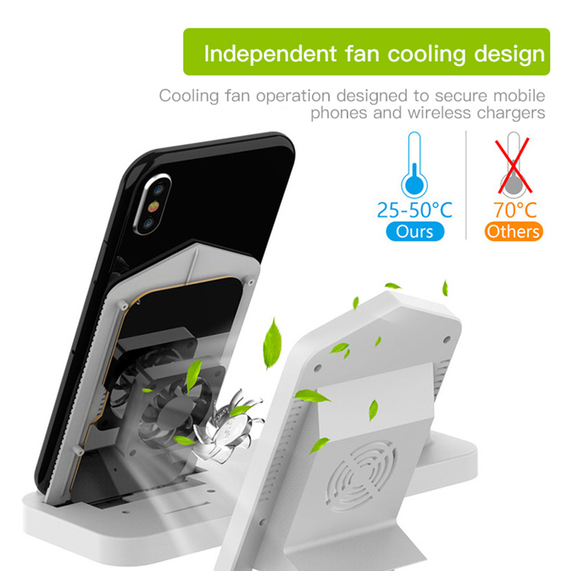 ACCEZZ 3 in 1 Wireless Charger Phone Holder Stand For iPhone 8 X XS XR 8 Plus For Apple Watch 1 2 3 4 AirPods Fast Charger Dock in Mobile Phone Chargers from Cellphones Telecommunications