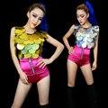 Женщины в одежда Ds джаз производительность женское певица сексуальный современный танец костюмы хип-хоп пайетки топы