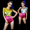 Hot! New Fashion Women's clothing Ds Jazz performance wear female singer sexy modern dance costumes Hip hop paillette tops