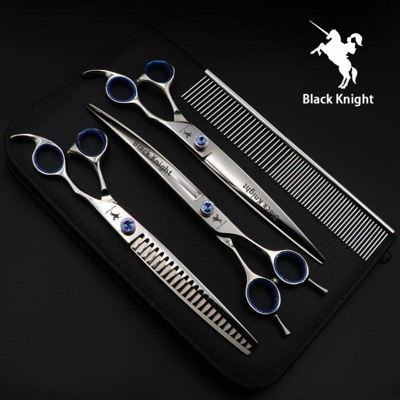 Comb com Case Tesoura Polegada Profissional Alto Grau Pet Dog Grooming Shears Set Straight & Emagrecimento Curvo 8