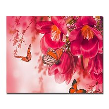 Butterflies And Flowers DIY Painting By Numbers Kits Drawing Oil Pictures Acrylic Digit Coloring On Canvas Home Wall Art Decor(China)