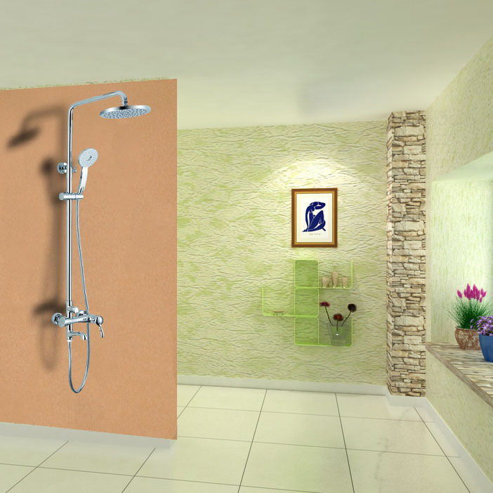 Snyder real all-copper hot and cold shower set shower faucet single rainfall shower nozzle factory direct