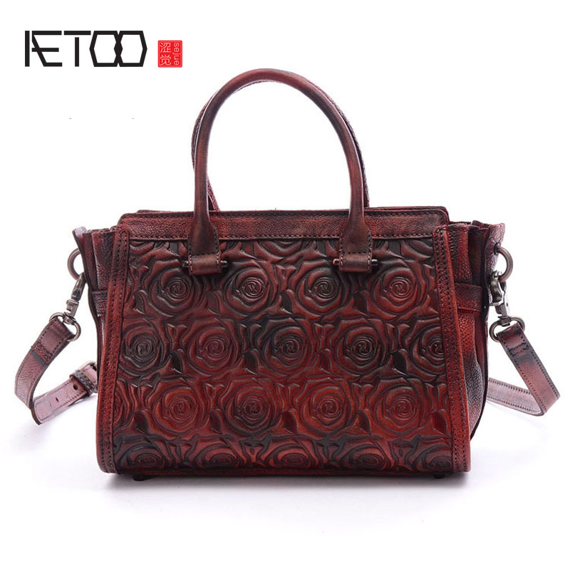 AETOO Lady retro street shoulder bag leather handbag oblique bag leather bag hand rub color rakesh kumar and shashank singh mechanical cultivation of rice under puddle and unpuddle condition