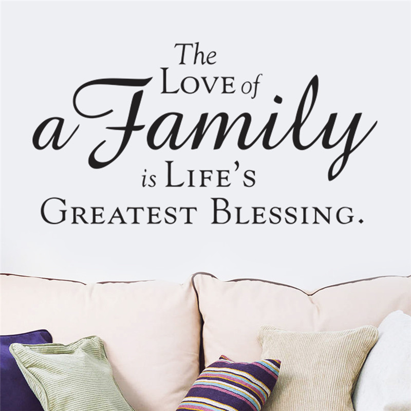 The love of a family is lifes greatest blessing vinyl lettering quotes for living room decor home decal mural in wall stickers from home garden on