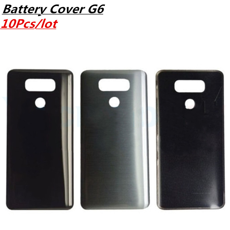 10Pcs/lot For <font><b>LG</b></font> <font><b>G6</b></font> H870 H871 H872 <font><b>H873</b></font> LS993 Back Battery Cover Rear Door Panel Housing Case Glass With Adhesive Sticker image