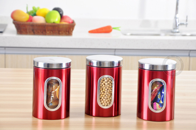 Stainless Steel Material tea tin box food storage metal case candy
