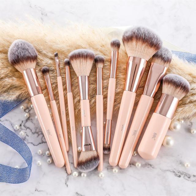 BBL 1pcs Pink Makeup Brush Kabuki Powder Foundation Blush Dual Ended Sculpting Blending Highlighter Smudge Eyeshadow Nasal Brush