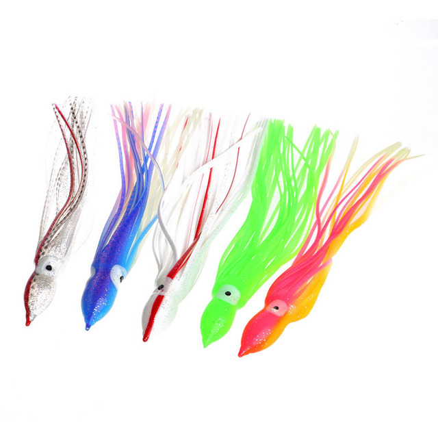 Fishing spinners lures Soft Squid Skirt Octopus Fishing Lure Tackle Jigs Luminous Bait 20/24/26/30cm
