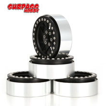 цена на 4pcs 2.2inch Alloy Wheel Hub Beadlock Rims for 1/10 RC Crawler Car Traxxas Hsp Redcat RC4WD Tamiya Axial SCX10 D90 HPI