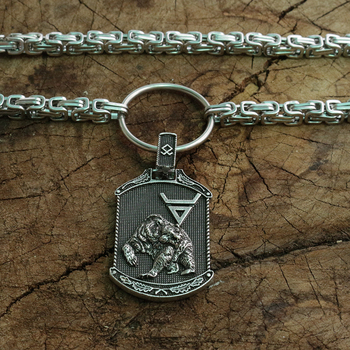 Viking Veles símbolo. Weles. Eslavo homens colar riqueza talismã jóias Urso urso pendant nórdico Totem com aço inoxidável cadeia