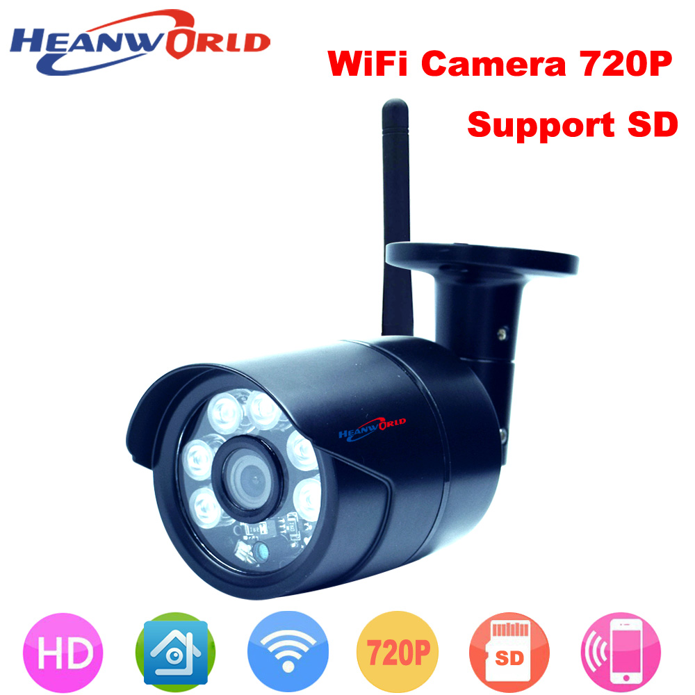 Outdoor Waterproof Wireless IP camera wifi micro SD card CCTV Webcam Network Surveillance Security Camera for day and night use hd 720p 1 0mp wireless wifi micro sd card ip camera waterproof network onvif outdoor surveillance security 36 ir night vision