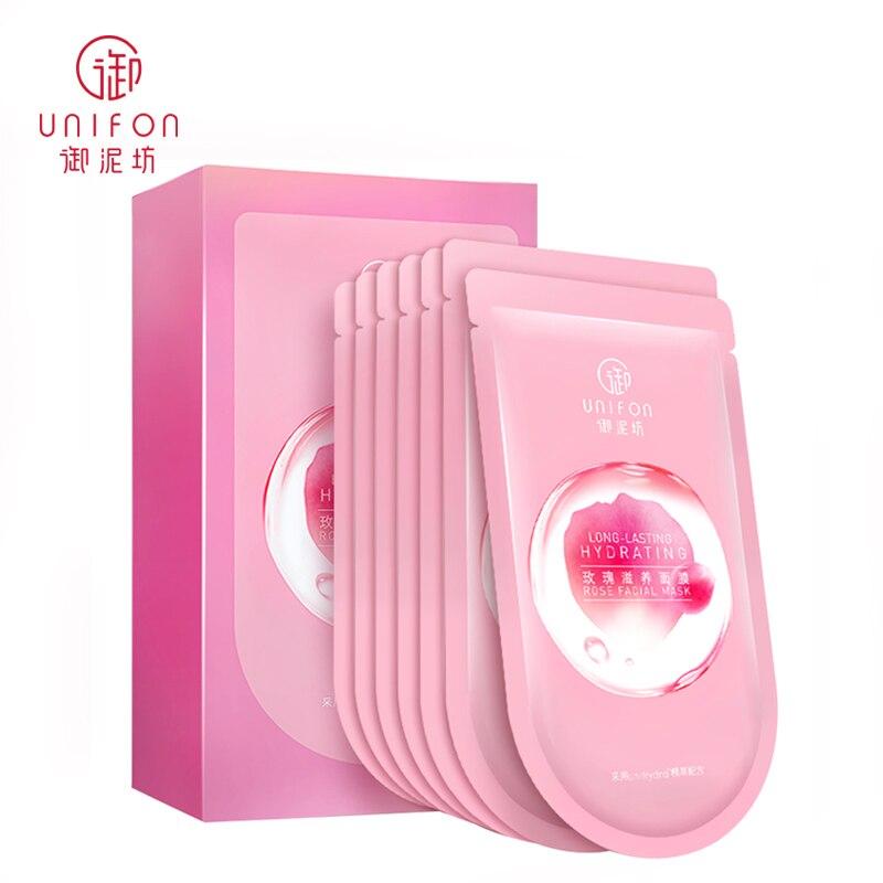 Yunifang/Unifon Long-Lasting Hydrating Rose Facial Mask Whitening Anti-Aging Water-Locking Nourishing  25ml*7pcs