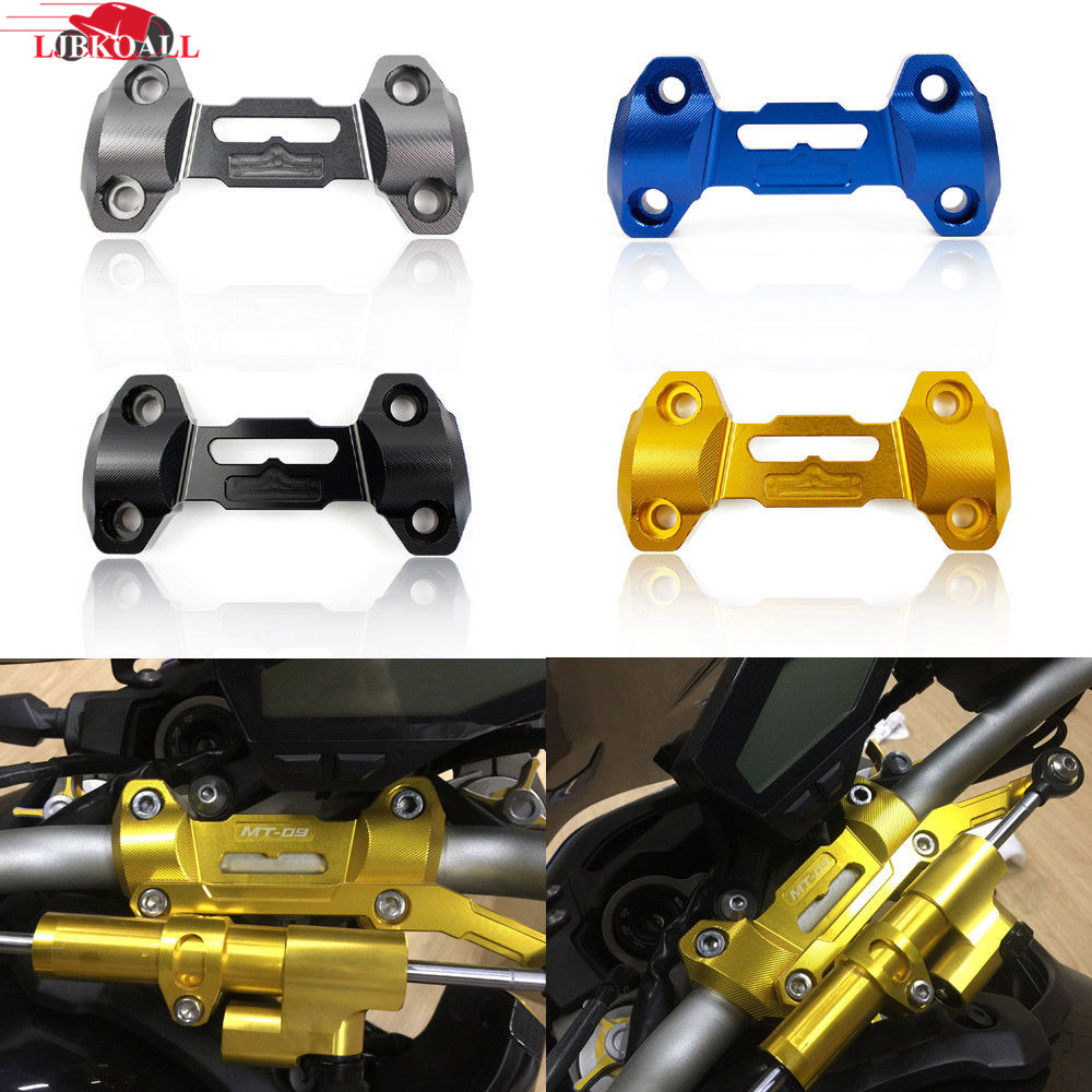 LJBKOALL Motorcycle CNC Aluminum Handlebar Risers Top Cover Clamp Mount For Yamaha MT 09 FZ 09 MT 09 2013 2014 2015 2016 in Covers Ornamental Mouldings from Automobiles Motorcycles