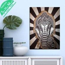 Лучший!  1 Шт. Слон Будда Мандала Бог HD Печатные Холст Wall Art Плакаты и Принты Плакат Живопись  Лучший!