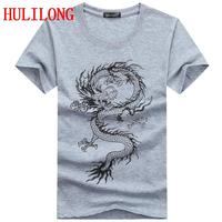 Hot Sale Summer Fashion Brand T Shirts For Men Novelty Dragon Printing Tattoo Male O Neck