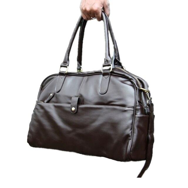 2016 New Fashion Casual men's PU leather travel bag big bag handbag cross-body messenger shoulder bags  Men Luggage