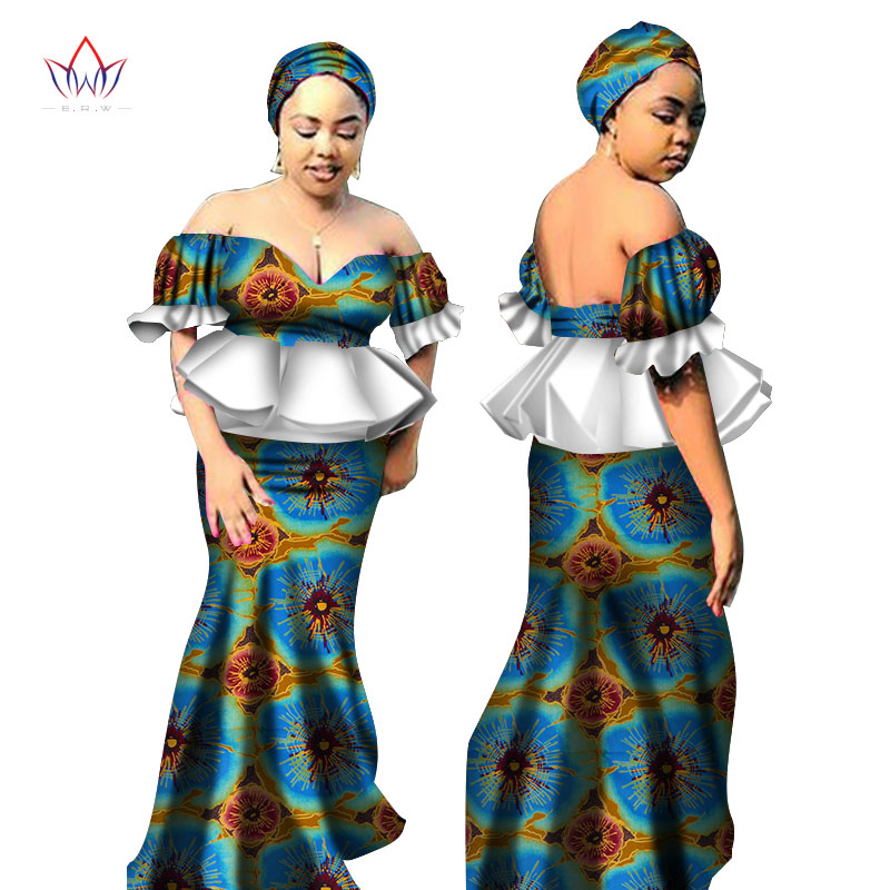 Exclaimhere Robe De Mariee Africaine En Bazin