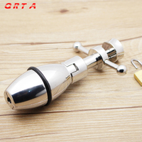 QRTA Adult Anal SEX Toy Stainless Steel Fetish Stretching Anal Plug With Lock Expanding Ass Appliance Sex Toy Butt Plug