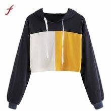 Newly Simple Korean Style Crop top sweatshirt for women Hoodie Sweatshirts Jumper hoodies Crop Top Pullover Tops female shirt