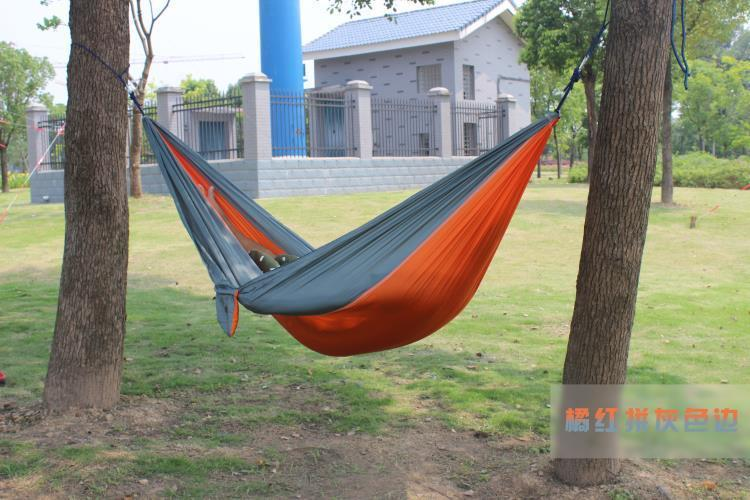 2 people Hammock 16 Camping Survival garden hunting swing Leisure travel Double Person Portable Parachute outdoor furniture 14