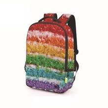 2018 New Student Casual oil painting Backpack rainbow Eyes Splash Ink Doodle Painting Travel Laptop Backpack