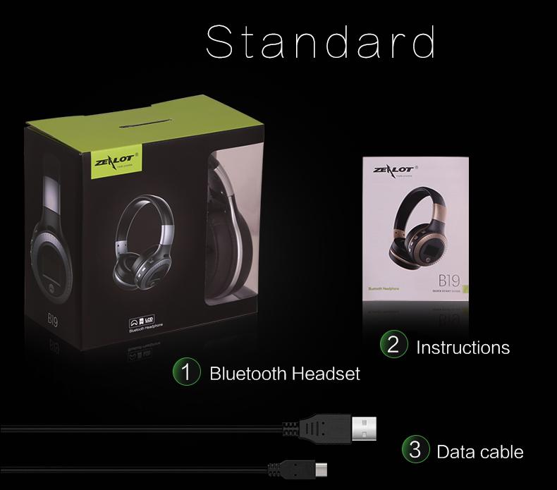 fanatic в19 новости жк-дисплей дисплей музыкальный автобус стерео наушники bluetooth для беспроводной микрофон гранат с ФМ радио и TF карты наушники