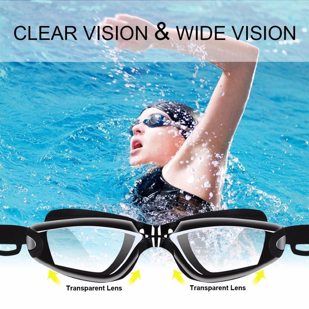 waterproof  suit hd anti-fog 100% uv adjustable prescription swimming goggles unisex