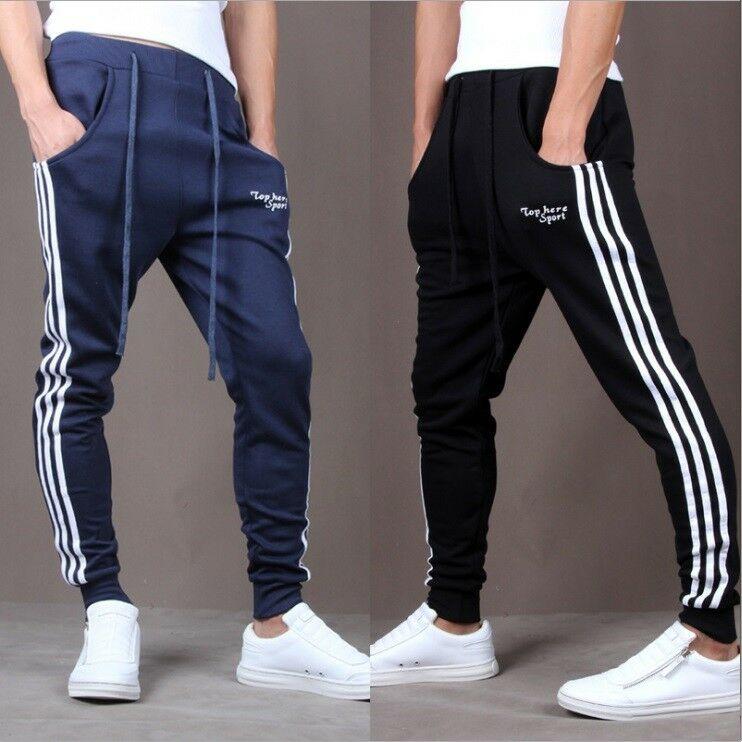 Boys Slim Fitness Trousers Pants Tracksuit Skinny Jogging Bottom Cloth Aesthetic  Track Pants  Men Joggers  Sweatpants